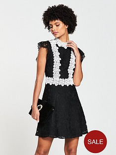 v-by-very-lace-contrast-skater-dress-blacklilac