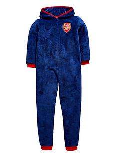 character-arsenal-football-fleece-hooded-fleece-sleepsuit
