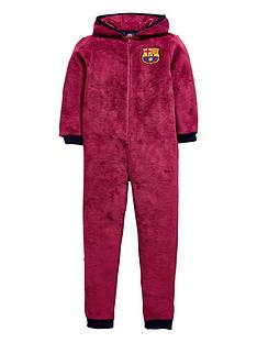 character-barcelona-football-fleece-hooded-sleepsuit