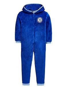 character-chelsea-football-fleece-hooded-sleepsuit