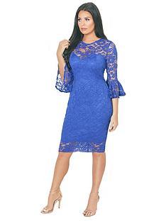 jessica-wright-luisa-lace-flute-sleeve-midi-dress