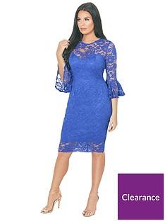 93660d0e107 Jessica Wright Luisa Lace Flute Sleeve Midi Dress