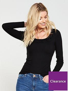 v-by-very-frill-rib-long-sleeve-top
