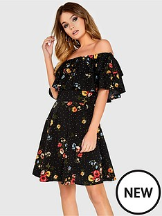 girls-on-film-floral-print-double-ruffle-dress-black