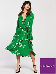 v-by-very-printed-wrap-dress-green