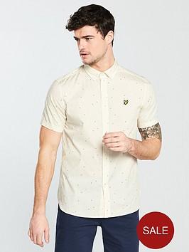 lyle-scott-lyle-amp-scott-micro-print-short-sleeve-shirt