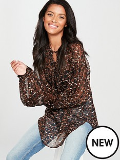 v-by-very-animal-poet-blouse-leopard-print