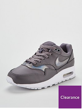 d8958276b0 Nike Air Max 1 Junior - Grey/White | littlewoods.com