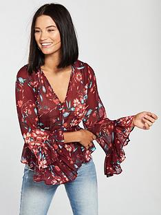 v-by-very-shirred-blouse-floral