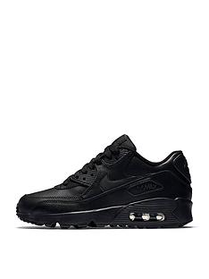 nike-junior-air-max-90-leather-black
