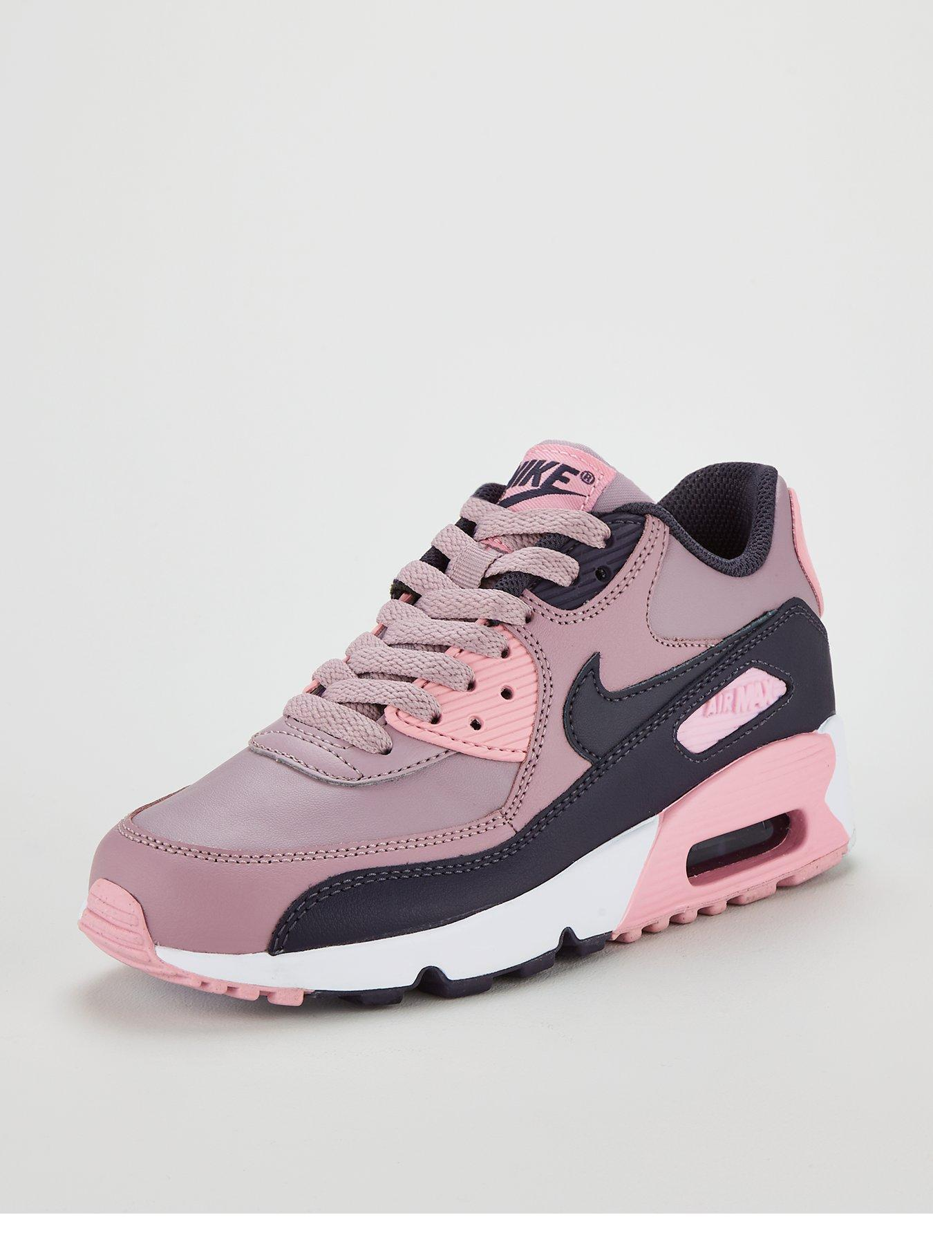 Details about Juniors NIKE AIR MAX 90 LTR Rose Trainers 833376 602