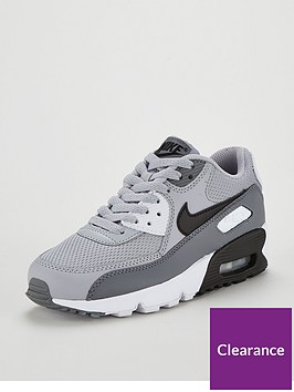ac3ce2348b Nike Air Max 90 Mesh Junior Trainer - Grey/Black | littlewoods.com