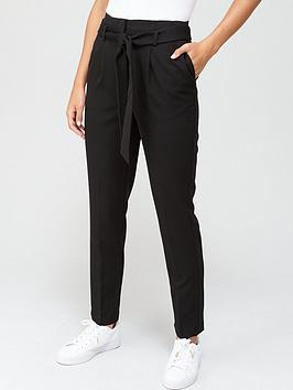 V by Very V By Very The Tapered Leg Trouser - Black Picture