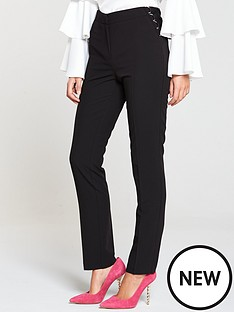 v-by-very-lace-up-cigarette-trouser-black