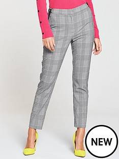 v-by-very-lace-up-cigarette-trouser-check