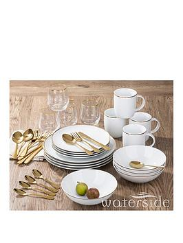 waterside-36-piece-gold-band-dinner-set