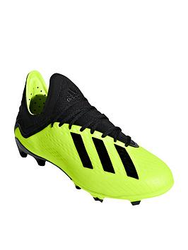 adidas junior x 18.1 firm ground football boots - yellow/black