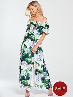 v-by-very-petite-bardot-ruffle-maxi-dress-printednbsp