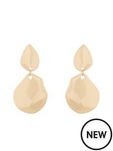 v-by-very-ava-organic-metal-drop-earrings-gold