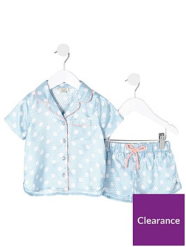 river-island-mini-girls-blue-polka-dot-pyjama-set