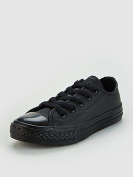 Converse Converse Chuck Taylor All Star Leather Ox Children Shoes - Black Picture