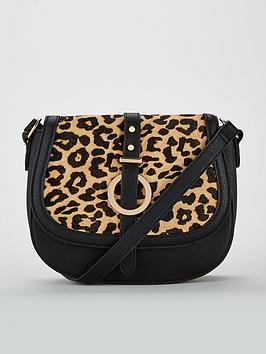 v-by-very-paige-leopard-leather-mix-saddle-bag-black