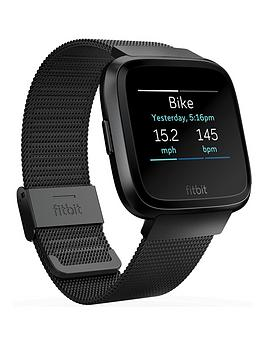 fitbit-fitbit-versa-mesh-band-blackstainless-fitness-tracker-not-inc