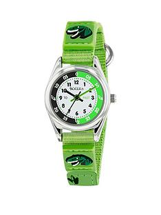tikkers-white-dial-dinosaur-detail-green-fabric-strap-kids-watch