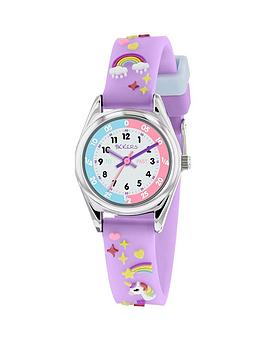 Tikkers Tikkers White Dial Unicorn Lilac Strap Kids Watch Picture