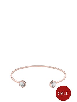 cluse-cluse-idylle-rose-gold-and-howlite-twist-ladies-bangle