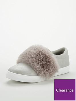 v-by-very-girls-kyla-metallic-amp-faux-fur-plimsolls-grey