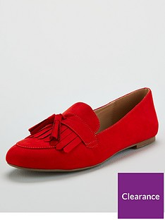 v-by-very-mumbai-flat-tassel-loafer-red