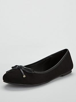 V by Very V By Very Wide Fit Maple Round Toe Ballerina Picture