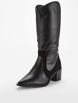v-by-very-sienna-point-western-calf-boot-black