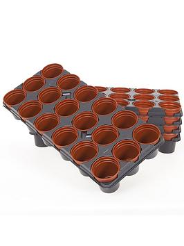 Very Professional Shuttle Trays Including 90 Pots For Pricking Out Picture