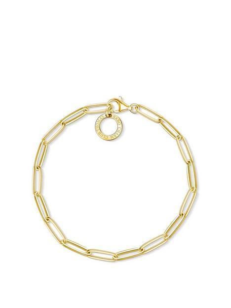 thomas-sabo-thomas-sabo-18k-gold-plate-paper-clip-link-sterling-silver-17cm-charm-carrier-bracelet