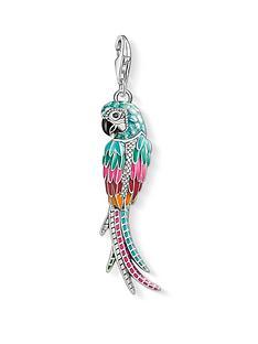 thomas-sabo-thomas-sabo-sterling-silver-enamel-parrot-charm