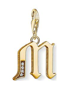 thomas-sabo-thomas-sabo-18k-gold-plate-sterling-silver-cubic-zirconia-set-letter-m-charm