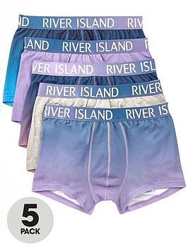 river-island-fade-print-5pk-trunk