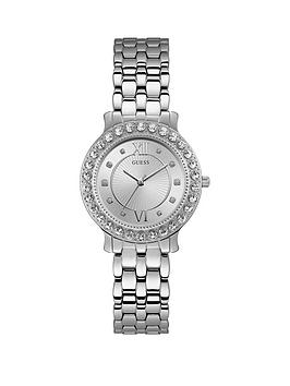 Guess Guess Blush Silver And Stone Set Dial Silver Stainless Steel Ladies  ... Picture