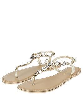 a70860ec1c17e8 Accessorize Candice Crystal Flat Sandal
