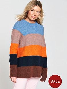 samsoe-samsoe-long-stripe-knit-jumper-silver-lake-stripe