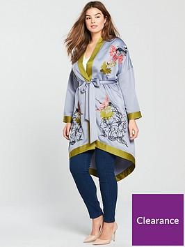 lost-ink-plus-longlinenbspembroidered-kimononbsp