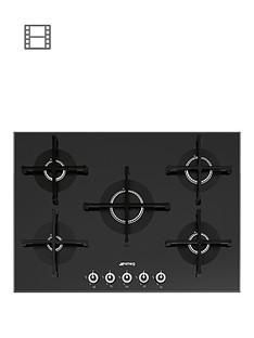 smeg-linea-pv175n-1-72cm-black-glass-built-in-gas-hob-stainless-steel