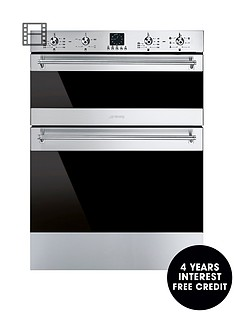smeg-dusf636x-60cm-eclipse-glass-built-in-under-counter-double-oven-stainless-steel