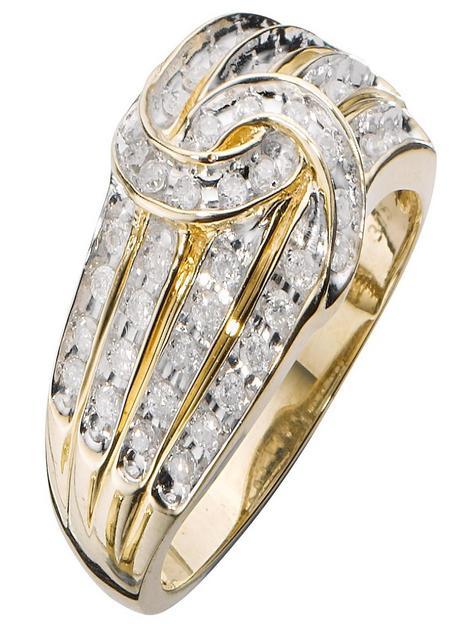 love-diamond-9-carat-yellow-gold-50-point-diamond-four-row-knot-ring