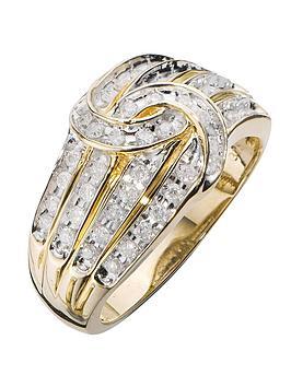 Love DIAMOND Love Diamond 9 Carat Yellow Gold 50 Point Diamond Four Row  ... Picture
