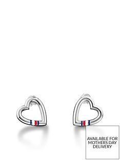 tommy-hilfiger-heart-logo-earrings