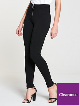 v-by-very-petite-ring-pull-legging-black