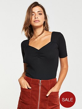 v-by-very-ruched-bust-fitted-top